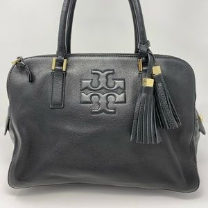 Tory Burch Thea Triple-Zip Satchel Bag, Black